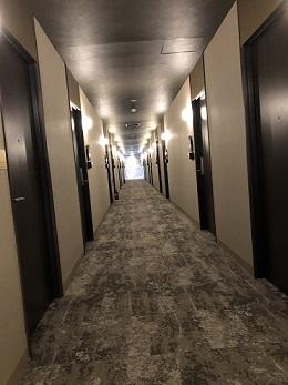 サウスアームの客室G棟前廊下