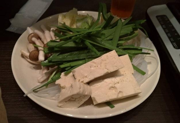 しゃぶ葉のお肉以外の食べ放題野菜、豆腐きのこなど