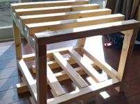 木製フレームの棚No1