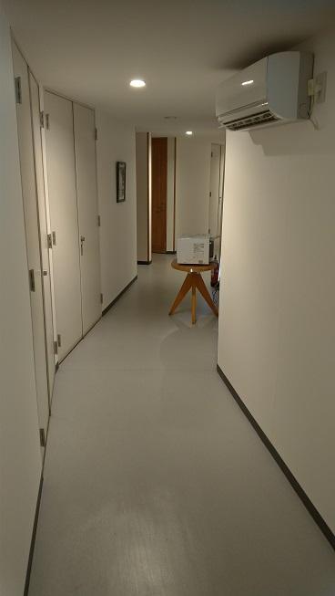 星の文化館の客室前廊下