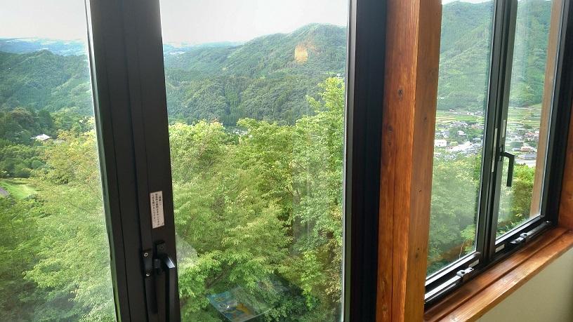 星の文化館の客室からの景色