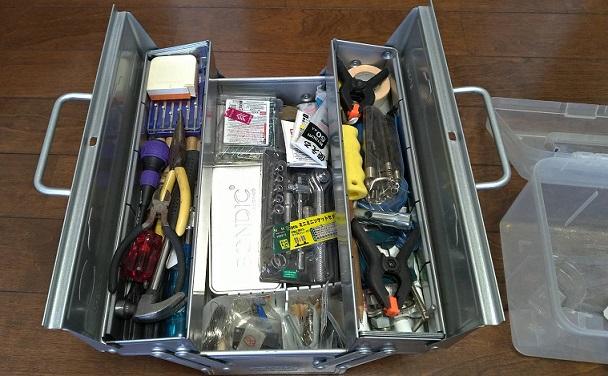 TOYOスチール製2段式工具箱に詰めてみた